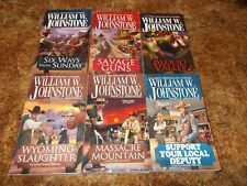 WILLIAM JOHNSTONE~COMPLETE~BLOOD VALLEY~SERIES~SIX PAPERBACK BOOK COLLECTION