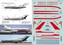 MICROSCALE DECALS 1/144 Boeing 727 (World Airways/Wardair)