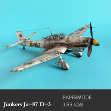 1:33 Germany Junkers  Ju-87 D-3 Bomber Aircraft Plane DIY Paper Model Kit