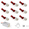 Small LED Spotlight 9PCS 12V 1W Recessed Celling Light for Kitchen, Stairs, Warm