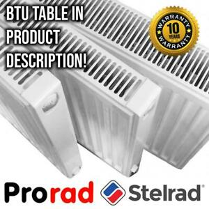 Compact Radiator PRORAD by STELRAD | P+ K1 K2 | Type 11 21 22 | ALL DIMENSIONS!