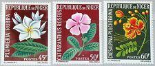 NIGER 1965 91-93 135-37 Flowers Blumen Flora Nature Pflanzen Plants Natur MNH