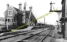 Cuxton Railway Station Photo. Rochester - Halling. Strood to Maidstone Line (3)