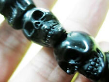 angry skull magic amulet pattern mage biker bracelet cool man's choice