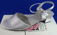 NEW Special Occasions by Saugus Shoe 19050 Silver Satin Bridal Dress Shoe 5B