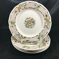 Set of 4 Vintage JOHNSON BROS Fleur L'Orange Side Plates