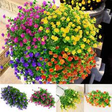 8 Paquete Artificial Exterior Plantas Plástico Falso Ramo Decoración Hogar