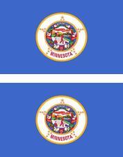 2 x Autocollant sticker voiture vinyl drapeau USA americain minnesota