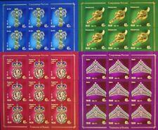RUSSIA RUSSLAND 2019 Klb 2751-54 I Treasures of Russia Schätze Juwelen Jewelery