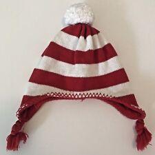 Old Navy Toddler Red White Stripe  Toddler Winter Hat