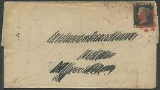 Gb #1 On Folded Letter Jan 13,1841 With Red Cancel Bs2645
