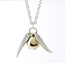 Harry Potter Retro Fashion Snitch Gold Siver Chain Pendant Necklace