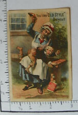 """CATLINS SMOKING TOBACCO """"YOU LIKE OLD STYLE DO YOU?"""" WOMAN SPANK CHILD SHOE 1413"""