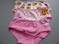 Emoji Mädchen Unterhosen Panties Slips 3er Pack Gr. 110/116