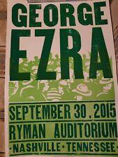George Ezra Hatch Show Print Poster Ryman Nashville