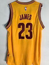 Adidas Swingman 2015-16 NBA Jersey Cleveland Cavaliers LeBron  James Gold sz S