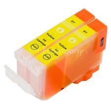 2 CANON Patronen mit Chip CLI8 Yellow IP3300 IP3500 IP4200 IP4500 IP5200R MP600