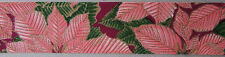 """5 Yd. roll  PINK POINSETTIA COTTON RIBBON  1 3/8"""" Wide"""