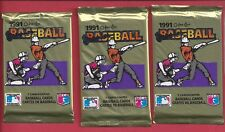 1991 O-PEE-CHEE Baseball (3)  Unopened Packs