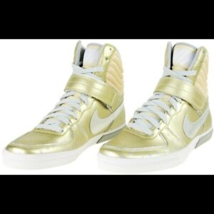 US 8 Nike Women's Aeroflight High LE Gold Polka Dot High Top Sneakers