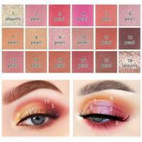 Matt Perlglanz Glitter 18 Farben Lidschatten-Palette Frauen Make-up T4H6