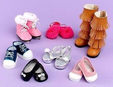 """Set of 7 Pairs of Shoes for 18"""" Doll fit American Girl New"""
