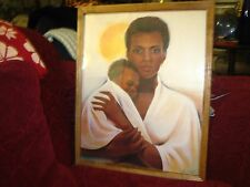 Lovely Framed Painting / Print Picture of A Mother Holding Her Beautiful Baby