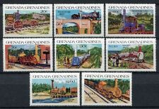 Grenada Grenadinen 1984 Eisenbahn Railways Trains Züge 629-636 ** MNH