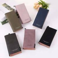 Women's Faux Leather Wallet Zipper Buckle Card Holder Long Purse Handbag