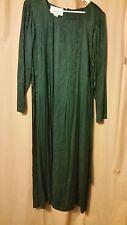 Sarah Elizabeth Green Long Sleeve Dress Textured Women Size 10    B3