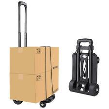 Folding Hand Truck Heavy Loading Capacity 165.4ibs 4 Wheels Utility Cart Luggage