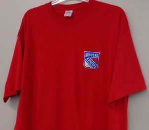 New York Rangers NHL Hockey Embroidered T-Shirt S-6XL, LT-4XLT New