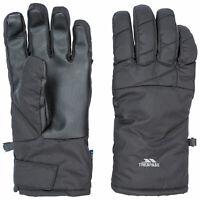 Trespass Kulfon Mens Womens Black Ski Snowboarding Gloves Waterproof Winter
