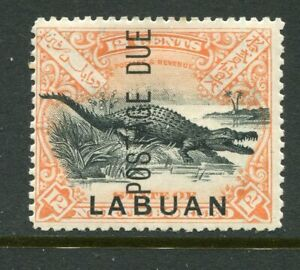 LABUAN....   Postage Due  1901  12c crocodile, SgD7   mint