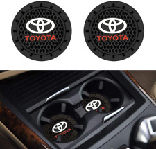 For Toyota Accessories Car Logo Round Cup Holder Coaster Insert Anti Slip Mat Pa