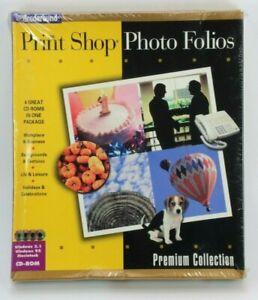 Rare Broderbund The Print Shop Photo Folios 4 CD Rom Premium Collection Sealed