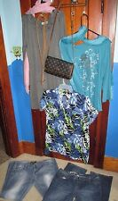 WOMEN'S 9 PC. PLUS SIZE 17 jeans BLUE SLICE MOSSIMO  CLOTHING LOT blouse xl
