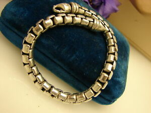 """David Yurman Sterling Silver Heavy Link Bracelet 53.8 Grams 8 1/2"""" 7 mm"""