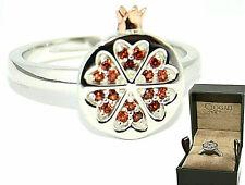 Clogau Ring Size M,N Catalina Silver Garnet Welsh 9ct Rose Gold Crown