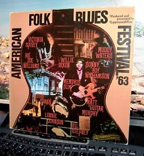 "VARIOUS. ""AMERICAN FOLK BLUES FESTIVAL '63""  L+R UK 1981 LP. EX COND."
