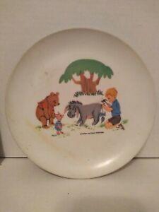 VIntage 1964 Walt Disney Winnie The Pooh Piglet  Eyore Robin Plastic Plate