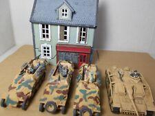 1/72 Painted German Halftracks Tank House.