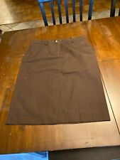Women's Isaac Mizrahi Brown Size 6 Skirt Look!