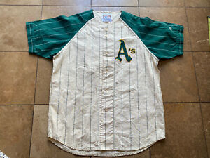 Vintage Oakland Athletics A's Mirage Cooperstown Jersey Mens Large