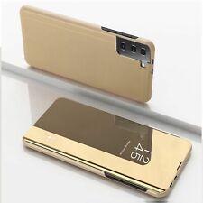 Handyhülle für Samsung Galaxy S21 Plus Schutzcase Klapptasche Mirror Cover Gold