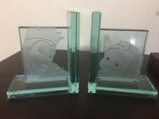 HTF Disney LE 750 Signed R Guenther Snow White Evil Queen Glass Etched Book Ends