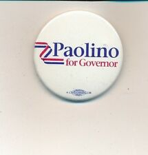 "1990 Paolino for governor 1 3/4"" cello Rhode Island RI campagin button"