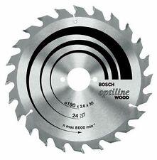 Bosch Optiline Circular Saw Blade 160mm X 24 Teeth 20mm Bore 1.8mm Thin