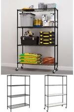 Hyper Tough 4-Shelf Commercial Grade Wire Shelving System can Hold Up to 600lbs