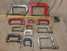 Lot Of 12 mixed C Clamps - Vintage/Antique Tools